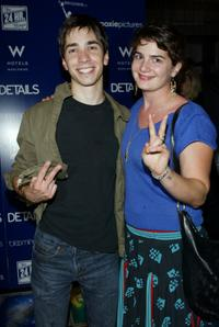 Justin Long and Gaby Hoffmann at the after party of