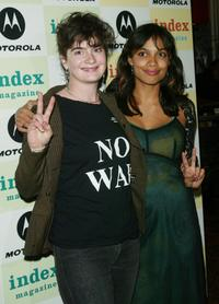 Gaby Hoffmann and Rosario Dawson at the Motorola/Index Magazine benefit.