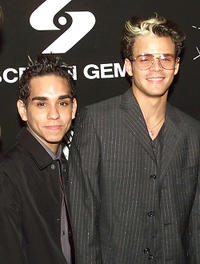 Ray Santiago and Santiago Douglas at the premiere of
