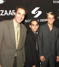 CEO Of Rainbow Programming Josh Sapan, Ray Santiago and Santiago Douglas at the premiere of