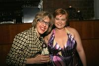 Jackie Hoffman and Kathy Brier at the benefit concert for Hair.