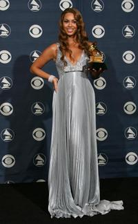 Beyonce Knowles at the 49th Grammy Awards.