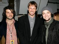 Mat Hoffman, Tony Hawk and Bam Margera at the 2004 Spike TV Video Game Awards.