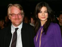Philip Seymour Hoffman and Michelle Monaghanat the world premiere of