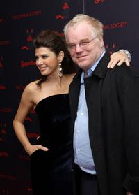 Philip Seymour Hoffman and Marisa Tomei at the premiere of