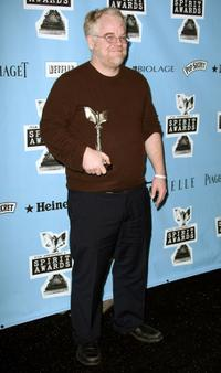 Philip Seymour Hoffman at the 2008 Film Independent's Spirit Awards.