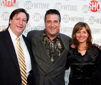 Survivor Olan Horne, Daniel Baldwin and Isabella Hofmann at the California premiere of