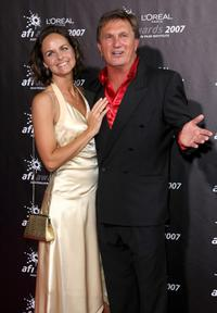 Michelle Pettigrove and Frankie J. Holden at the L'Oreal Paris 2007 AFI Awards.