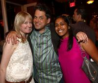 Heather Tremaine, Jeff Tremaine and Priya Swaminathan at the premiere of