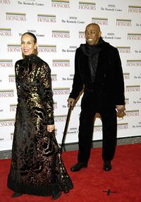 Geoffrey Holder and Carmen de Lavallade at the State Department for a dinner hosted by Secretary of State Condoleezza Rice, celebrating the Kennedy Center Honors recipients 02 December, 2006.