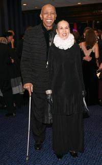 Geoffrey Holder and Carmen de Lavallade at the Alvin Ailey American Dance Theater's 50th Anniversary Opening Night gala celebration.