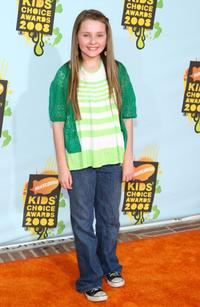 Abigail Breslin at the 2008 Kids Choice Awards.