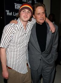 Cameron Douglas and Michael Douglas at the Conde Nast Traveler Hot List party.