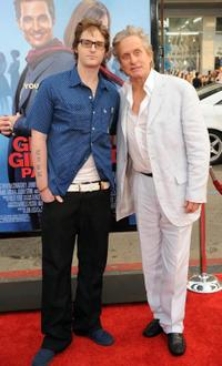 Cameron Douglas and Michael Douglas at the world premiere of