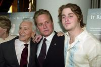 Kirk Douglas, Michael Douglas and Cameron Douglas at the New York premiere of