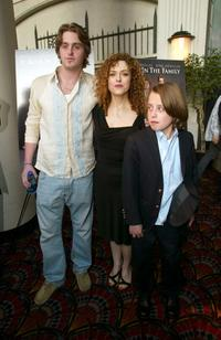 Cameron Douglas, Bernadette Peters and Rory Culkin at the New York premiere of
