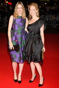 Romola Garai and Laura Linney at the BFI 52 London Film Festival premiere of