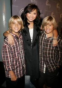 Cole Sprouse, Brenda Song and Dylan Sprouse at the Hollywood Radio and Television Society presents