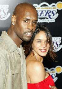 Gary Payton and Monique at the 1st Annual Palms Casino Royale to benefit the Los Angeles Lakers Youth Foundation.