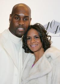 Gary Payton and Monique Payton at the opening of Jay-Z's USD 20 million 40/40 Club.