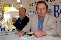 Mark Danner and Christopher Hitchens at the 9th Annual LA Times Festival of Books.