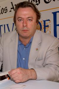 Christopher Hitchens at the 9th Annual LA Times Festival of Books.