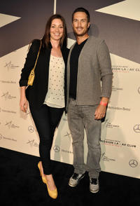 Bianca Kajlich and Oliver Hudson at the preview of Mercedes-Benz Transmission LA: AV CLUB Curated by Mike D in California.