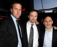 Basil Iwanyk, executive producer Thomas Tull and Jeff Robinov at the premiere of
