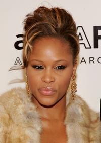 Eve at the AmFAR Gala honoring the work of John Demsey and Whoopi Goldberg.