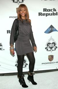 Eve at the Rock and Republic Spring 2006 show during the Mercedes-Benz Fashion week.