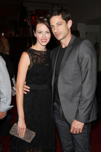 Amy Acker and James Carpinello at the premiere of