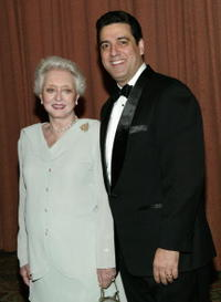 Celeste Holm and husband Frank Basile at the 2004 American Women in Radio and Television Gracie Allen Awards gala.