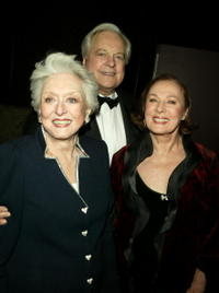 Celeste Holm, author Robert Osborne and actress Rita Gam at the AMPAS Official Oscar Night Celebration.