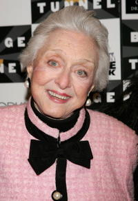 Celeste Holm arrives at the opening night of