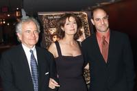 Ian Holm, Oliver Platt and Susan Sarandon at the Premiere of Joe Gould's Secret at the E-Walk Theater in New York City.