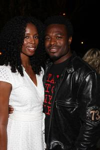 Tasha Smith and Lyriq Bent at the 2007 White Party benefiting Heal the Bay charity.