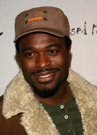 Lyriq Bent arrives at the Johnnie Walker Dressed to Kilt 2006 fashion show.