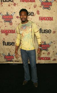 Lyriq Bent at the fuse Fangoria Chainsaw Awards.
