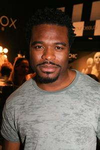 Lyriq Bent at the Mercedes Benz Fashion Week.