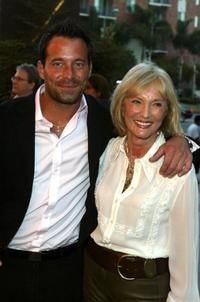 Johnny Messner and Verna Harrah at the Los Angeles screening of