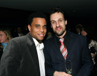 Michael Ealy and Henri Lubatti at the Showtime Pre-Golden Globes Celebration in California.