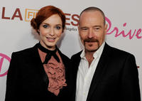Christina Hendricks and Bryan Cranston at the California premiere of