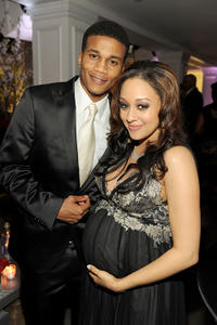 Cory C. Hardrict and Tia Mowry at the 42nd NAACP Image Awards in California.