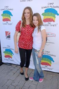 Danielle Panabaker and Kay Panabaker at the Camp Ronald McDonald for kids 14th Annual Family Halloween Carnival.
