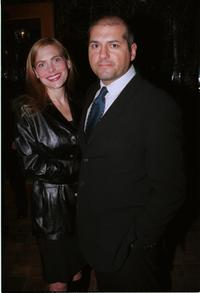 A.J. Benza and Guest at the post-Golden Globe awards party.