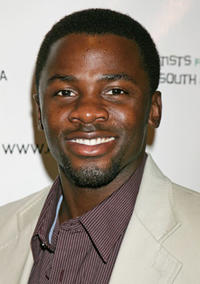 Derek Luke at Archbishop Desmond Tutu's 75 birthday gala fundraiser in Beverly Hills.
