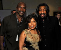 Evander Holyfield, Valerie Simpson and Nick Ashford at the 41st Annual Songwriters Hall of Fame Ceremony in New York.