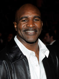 Evander Holyfield at the Bernard Hopkins-Roy Jones Jr. fight in Nevada.