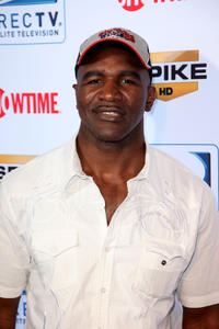 Evander Holyfield at the Fourth Annual DIRECTV Celebrity Beach Bowl in Florida.