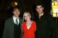 Gregory Smith, Kristin Adams and Travis Milne at the after party of